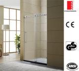 Passe pelo cilindro grande acessórios de aço inoxidável porta do chuveiro Banho Tela Tela Porta Sanitária