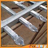 Con la recinzione superiore saldata del germoglio di alluminio rivestito della polvere