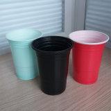 도매 16oz 450ml 처분할 수 있는 PP 플라스틱 미국 빨강 솔로 컵