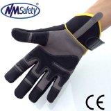 Верх из синтетической кожи Nmsafety швейных механик перчатки