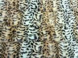 Leopard полированный печатаемого фрагмента PV бархат