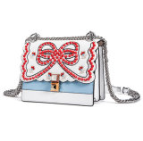 Estilo europeu elegante design de marca Sling bag bolsa Mulheres em pele genuína
