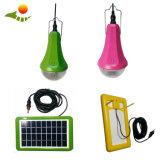 Sistema di energia solare, illuminazione esterna, lampadina solare della casa LED