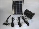 太陽ランタンライト5W太陽電池パネル3W LEDの電球4ah電池