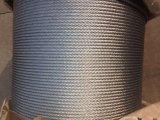 Гальванизированная гибкая веревочка стального провода 6X7+FC
