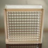 80mm Art creux de couleur claire et la création de solides en brique de verre de bloc de verre