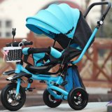 세륨 증명서를 가진 3개의 바퀴 세발자전거가 파란 색깔에 의하여 농담을 한다