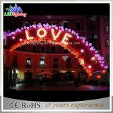 Luz interna & ao ar livre do arco da decoração do Natal do casamento da iluminação do diodo emissor de luz
