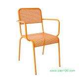 粉の上塗を施してある終了するの屋外の鋼鉄コーヒー椅子(CSC-107)
