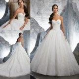 Кружева Ballgown Strapless устраивающих дамы женщин свадебные платья (5617)