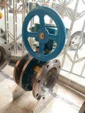 Geschweißtes Drosselventil des Kohlenstoffstahl-Pn25 Dn800 gangbetriebener dreifacher Exzenterkolben
