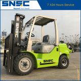 옆 이동 장치를 가진 중국 Snsc 3ton 디젤 엔진 포크리프트