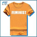 Precio barato unisex de la camiseta del OEM con el cuello redondo