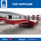 Titan chargeur bas Spécification 2 essieux 50 tonnes 60 Tonne 80 tonnes faible lit semi-remorque pour transporter le matériel de construction