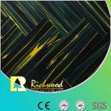 Assoalho estratificado resistente da água do Teak do espelho do anúncio publicitário 12.3mm