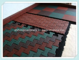 Azulejo de suelo de goma que hace la máquina