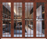 Portas de dobradura de alumínio do projeto novo para a casa de campo luxuosa bonita