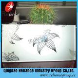 4mm/5mm/6mm verre décoratif / conçu de verre / écran de soie de verre / verre imprimé / verre d'acide