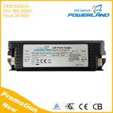 24W 600mA 180-264VAC conducteur courant constant LED d'entrée avec TUV SAA Certificats