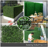 Seto artificial de color verde del Jardín de Plantas artificiales decoracion de pared