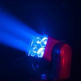Testa mobile calda dello zoom 4 LED per illuminazione della fase