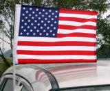 &Pole nazionale della bandierina/bandiera dell'automobile del poliestere caldo di vendita di stampa di Cusotm