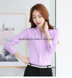 Branch Fall Women Tops Long Sleeve Casual Chiffon Blouse Female V-Neck Work Wear solvently Color White Office shirt for Women