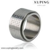 Moda Cool Silver-Plated 13770 Joyería en acero inoxidable dedo el anillo de los hombres grabadas con palabras