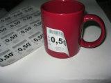 Etiqueta adesiva do tamanho removível redondo