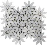 Mosaico all'ingrosso del marmo delle mattonelle della parete della stanza da bagno di disegno del fiore