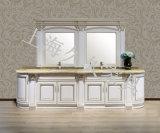 Armário de casa de banho de madeira sólida W/ Espelho para casais Euro tipo clássico mobiliário de Banho