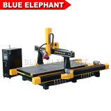 Jinan Blue Elephant 1637 ATC 4 Aixs de transformation du bois CNC Router avec HSD Refroidissement par air, de la fusée peuvent pivoter de 180 degré