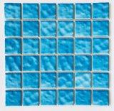 2019 de Nieuwe Tegel van het Mozaïek van het Porselein van het Patroon van de Golf van het Patroon Blauwe Ceramische voor Decoratie, Keuken, Badkamers en Zwembad