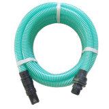 1  spirale en PVC flexible d'aspiration avec connecteur en plastique du tuyau flexible de pompe à eau du tube (1 22mm*26mm)