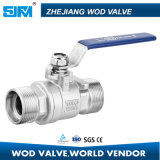 ISO 5211 de la vávula de bola de flotador del acero inoxidable 2PC