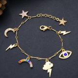 Monili di Multi-Figura del braccialetto del diamante intarsiati lega di modo per le ragazze