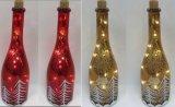 Mestiere di vetro dell'indicatore luminoso della decorazione di natale con l'indicatore luminoso di rame della stringa LED per arte della parete (17007)
