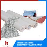 70g 90g 100g ayunan papel seco de la sublimación del tinte para la transferencia del poliester