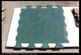 Tuiles en caoutchouc de cour de jeu, machine à paver en caoutchouc colorée, tuiles en caoutchouc de verrouillage