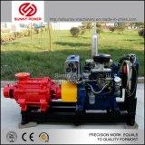 ISOのEngineか電動機によって運転される4inch水ポンプ