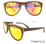 Occhiali da sole polarizzati modo di legno UV400