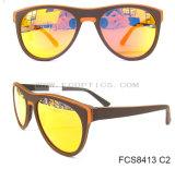 Houten Manier Gepolariseerde Zonnebril UV400