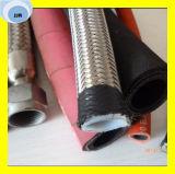 Trançado material resistente químico da temperatura PTFE com a mangueira do SAE 100 R14 Teflong do aço inoxidável