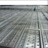 La piattaforma della plancia dell'impalcatura del metallo/ha perforato la plancia d'acciaio