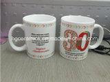 Imprime la etiqueta de taza, taza de promoción de 11oz.
