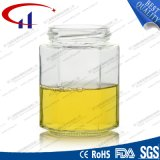 280ml極度のフリントガラスの蜂蜜の瓶(CHJ8015)