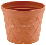 格子縞のプラスチック庭の鍋(KD7702-KD7704)