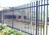 やりの上の粉の上塗を施してある防御フェンス