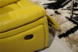 Sofá de la sala de estar con el sofá moderno del cuero genuino fijado (449)