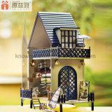 가구를 가진 사랑스러운 모형 나무로 되는 Yizhi 장난감 DIY 인형의 집